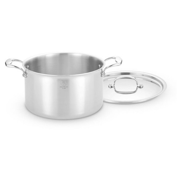 Heritage Steel 8 qt. Stainless Steel Covered Stock Pot