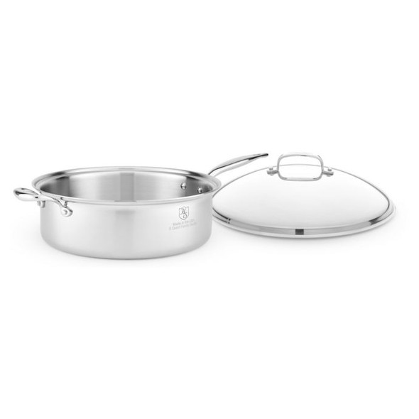Heritage Steel 8 qt. Stainless Steel Covered Saute Pan