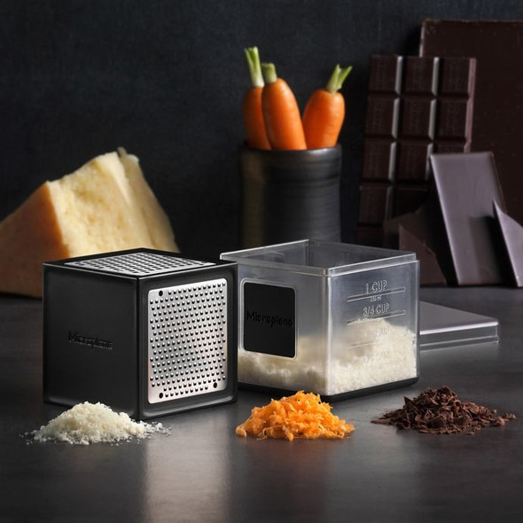 Microplane® Stainless Steel Container Grater in Black