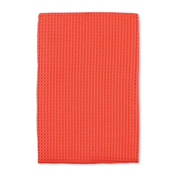 MU Kitchen™ Waffle Kitchen Towels in Coral (Set of 4)