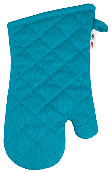 Mu Kitchen™ Cotton Oven Mitt in Aquamarine
