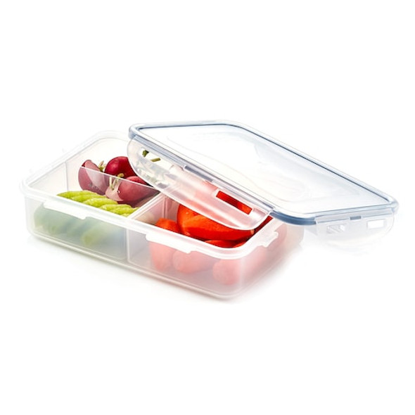 Lock & Lock Easy Essentials™ On The Go Meals 27-Ounce Divided Rectangular Food Storage Container
