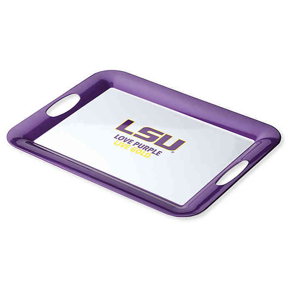 Louisiana State University 16-Inch x 12.5-Inch Serve 'n Score™ Party Platter in White