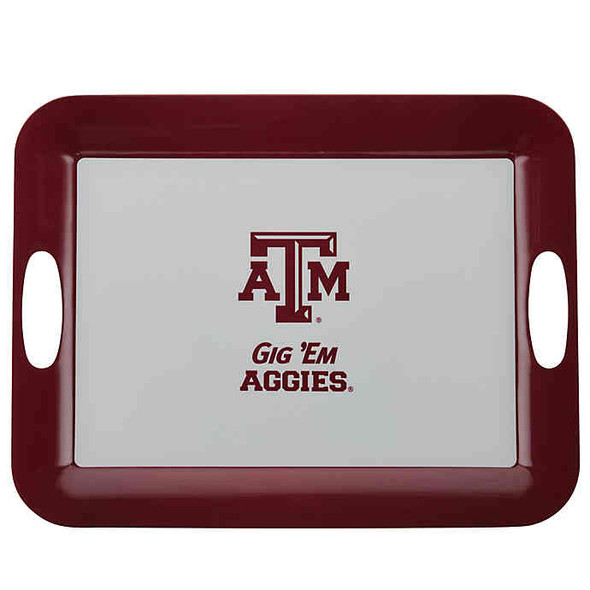 Texas A&M University 16-Inch x 12.5-Inch Serve 'n Score™ Party Platter in White