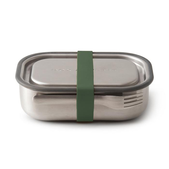 Black + Blum Stainless Steel Lunch Box in Olive