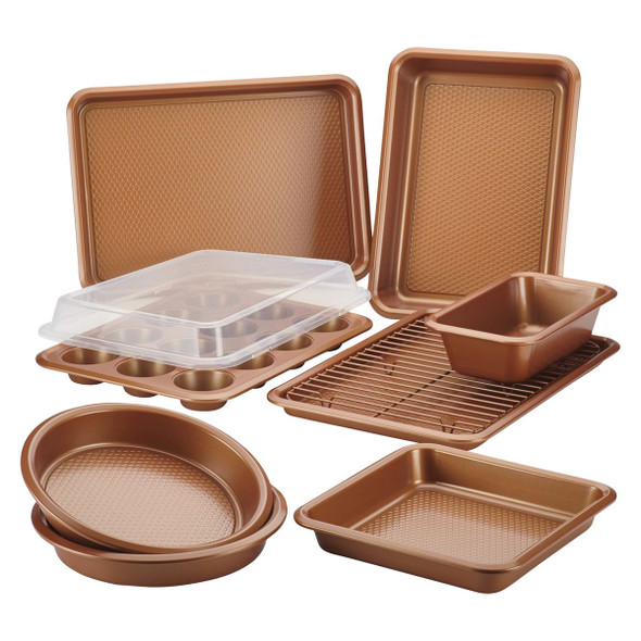 Ayesha Curry™10-Piece Nonstick Bakeware Set in Copper