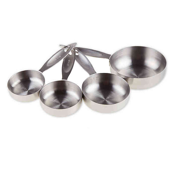 CraftKitchen™ 4-Piece Heavy Duty Stainless Steel Measuring Cups Set in Silver