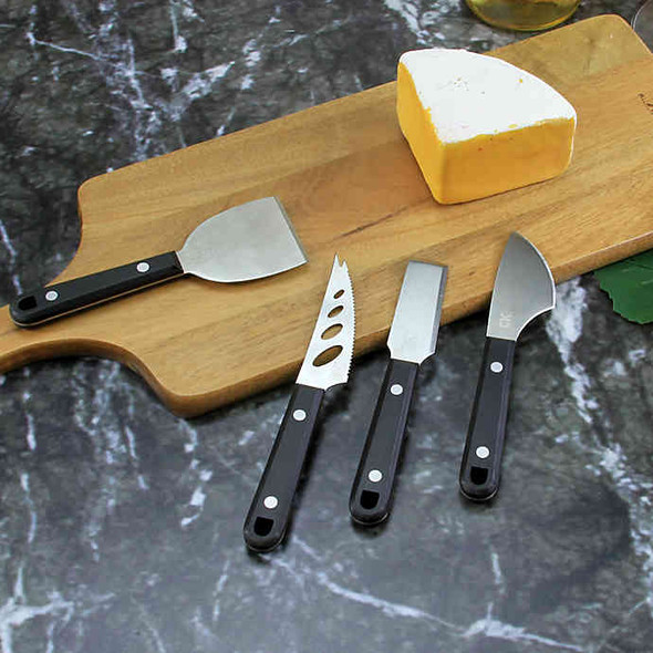 Craft Kitchen® 4-Piece Cheese Knives Set in Brown