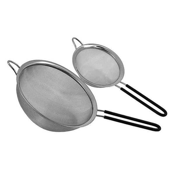 Oneida Mesh Stainless Steel Strainers with Long Handles (Set of 2)