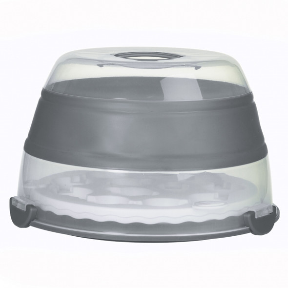 prepworks® Collapsible Cupcake and Cake Carrier in Grey