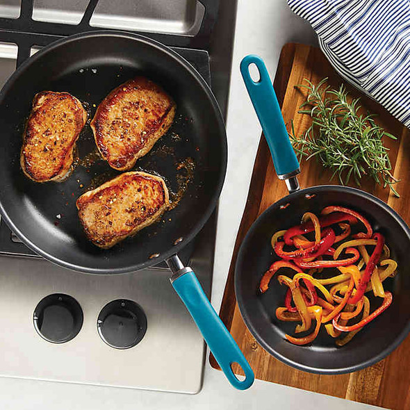 Rachael Ray™ Create Delicious Nonstick Hard-Anodized 2-Piece Skillet Set in Grey/Teal