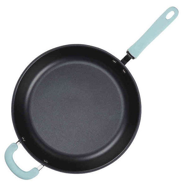Rachael Ray™ Create Delicious Nonstick Hard-Anodized Deep Skillet in Grey/Blue