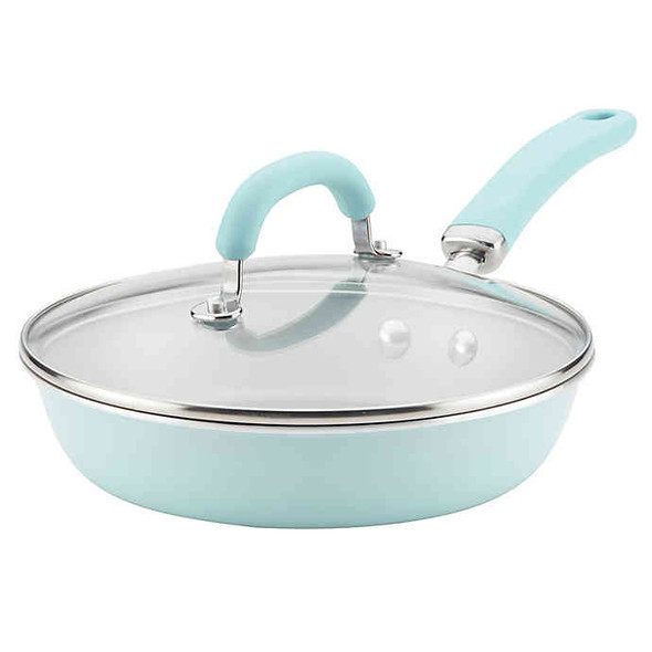 Rachael Ray™ Create Delicious Nonstick 9.5-Inch Aluminum Covered Deep Skillet in Blue