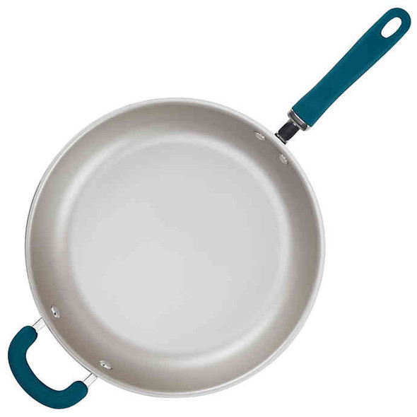 Rachael Ray™ Create Delicious Nonstick 12.5-Inch Aluminum Deep Skillet in Teal