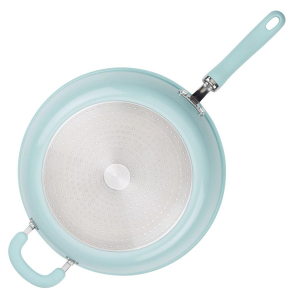 Rachael Ray™ Create Delicious Nonstick 12.5-Inch Aluminum Deep Skillet in Blue