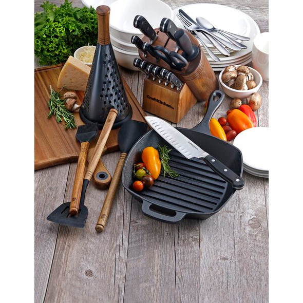 """Craft Kitchen® 10"""" Cast Iron Square Grill Pan"""