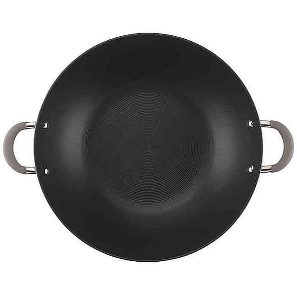 Circulon® Elementum™ Nonstick 14-Inch Hard-Anodized Covered Wok in Oyster Grey