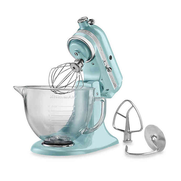 KitchenAid® 5 qt. Artisan® Design Series Stand Mixer with Glass Bowl in Azure Blue