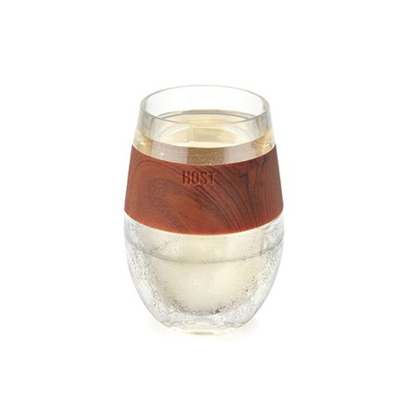 Host® Wine FREEZE™ Cooling Stemless Wine Glass in Wood