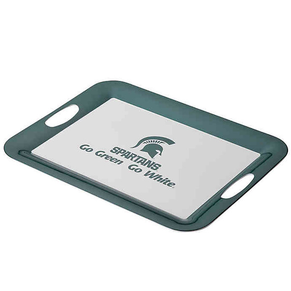 Michigan State University 16-Inch x 12.5-Inch Serve 'n Score™ Party Platter in White