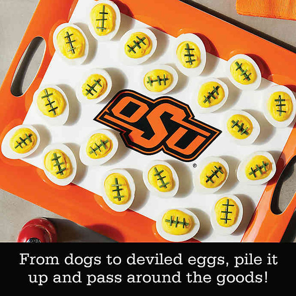 Oklahoma State University 16-Inch x 12.5-Inch Serve 'n Score™ Party Platter in White