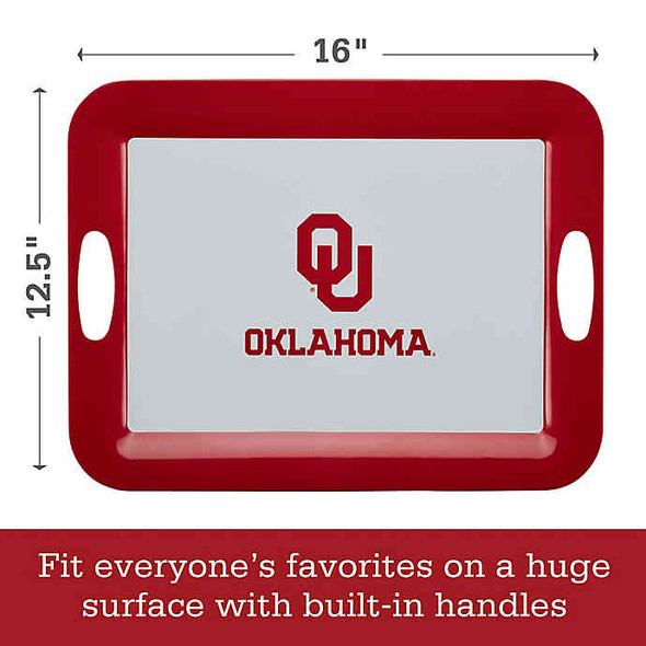 University of Oklahoma  16-Inch x 12.5-Inch Serve 'n Score™ Party Platter in White