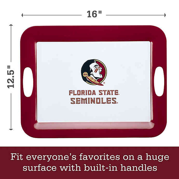 Florida State University 16-Inch x 12.5-Inch Serve 'n Score™ Party Platter in White