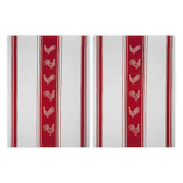 Mu Kitchen™ Jacquard Rooster Kitchen Towel in Red (Set of 2)