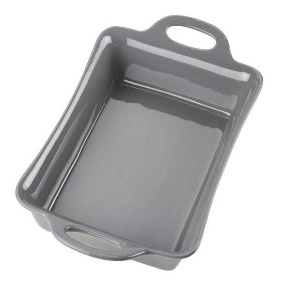 Rachael Ray™ Ceramics 9-Inch x 13-Inch Rectangular Baker in Grey