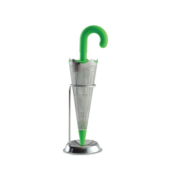 Norpro Stainless Steel Umbrella Tea Infuser with Drip Catcher Stand