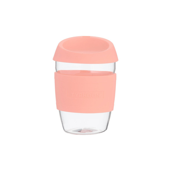 Typhoon 13.5 oz. Glass Reusable Coffee Cup in Pink
