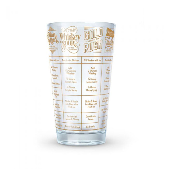 Fred & Friends® Whiskey 16 oz. Good Measure Recipe Glass