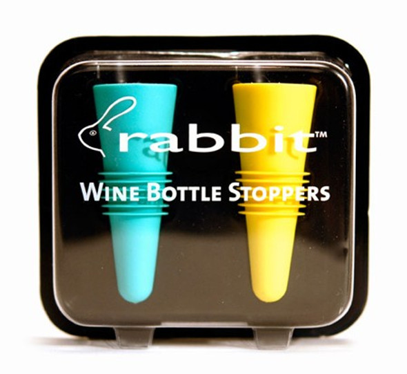 Rabbit® Brand Wine Bottle Stoppers in Assorted Colors (Set of 2)