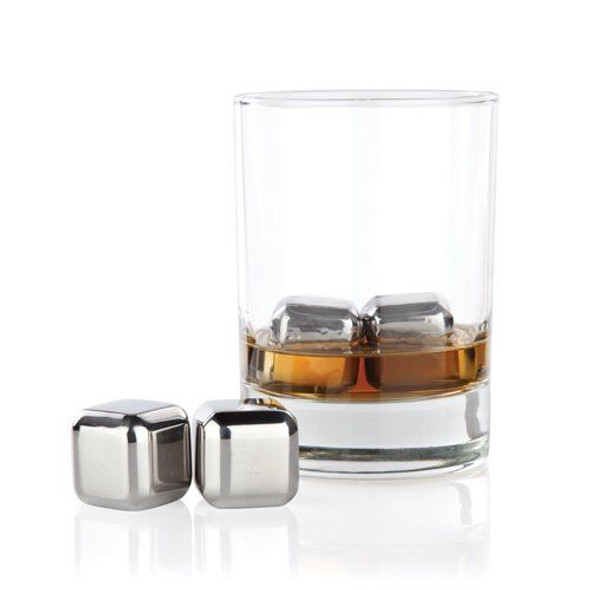 Glacier Rocks Small Stainless Steel Cubes (Set of 6)