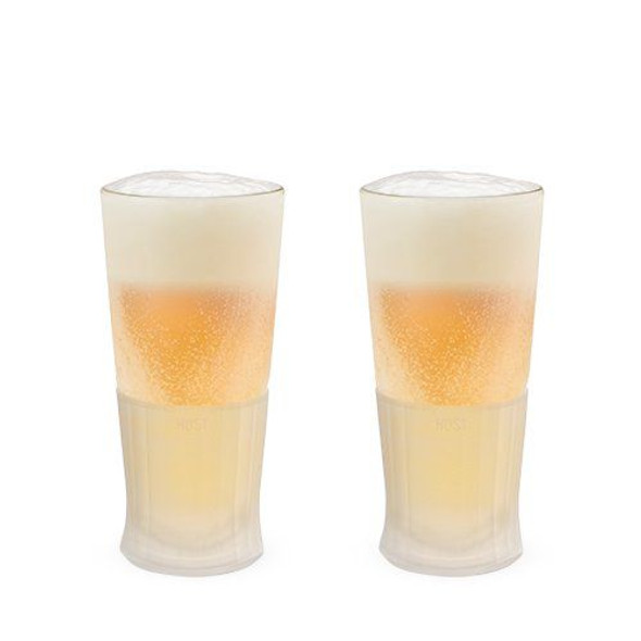 Glass FREEZE™ Beer Glass by HOST® (Set of 2)