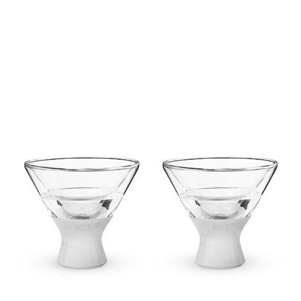 Glass FREEZE™ Martini Glass by HOST® (Set of 2)