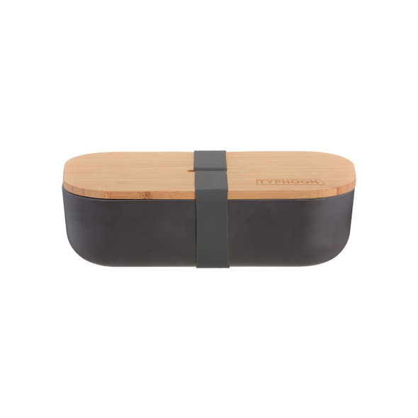Typhoon® PURE Color Bamboo Fiber Lunch Box in Black