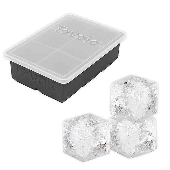 Tovolo® King Cube Ice Tray with Lid in Charcoal