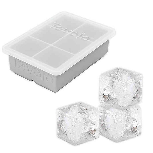 Tovolo® King Cube Ice Tray with Lid in Oyster Gray
