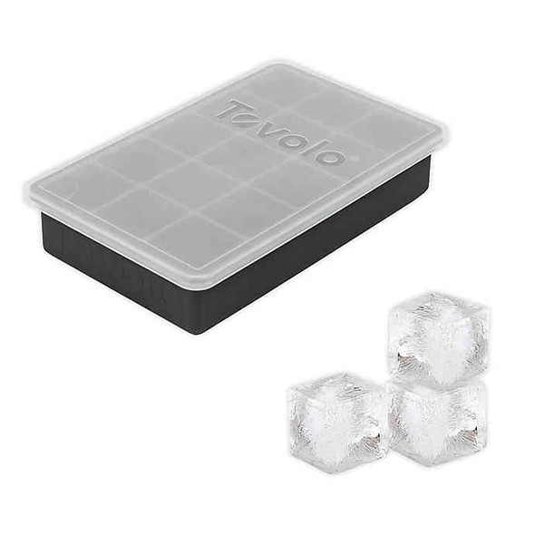 Tovolo® Perfect Cube Ice Tray with Lid in Charcoal