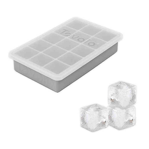 Tovolo® Perfect Cube Ice Tray with Lid in Oyster Gray