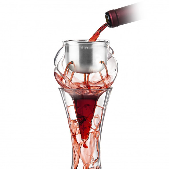 Final Touch® Conundrum Stainless Steel Aerator for Wine Decanters