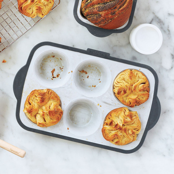 Trudeau® 6-Count Silicone Muffin Pan in Marble