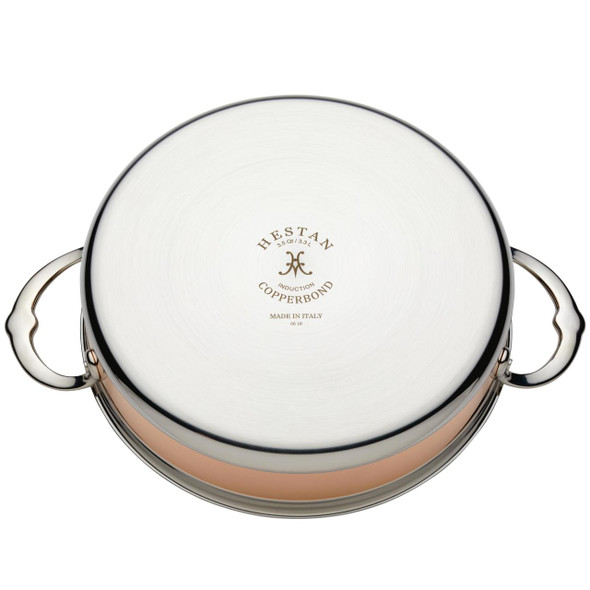 Hestan CopperBond™ 3.5-Quart Covered Stainless Steel Sauteuse Pan