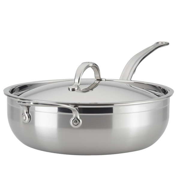 Hestan ProBond™ 5-Quart Covered Stainless Steel Essential Pan with Helper Handle