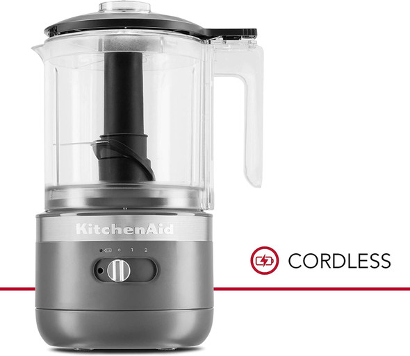 KitchenAid® Cordless 5 Cup Food Chopper in Matte Charcoal Grey