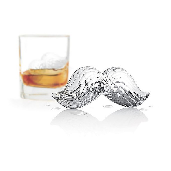 Tovolo® Mustache Ice Mold in Charcoal (Set of 2)