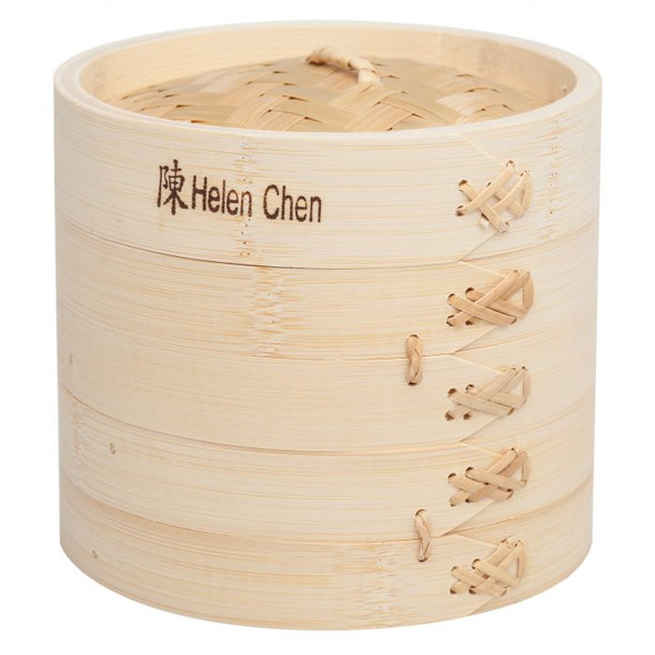 """Helen's Asian Kitchen® 6"""" Bamboo Steamer with Lid (Set of 3)"""