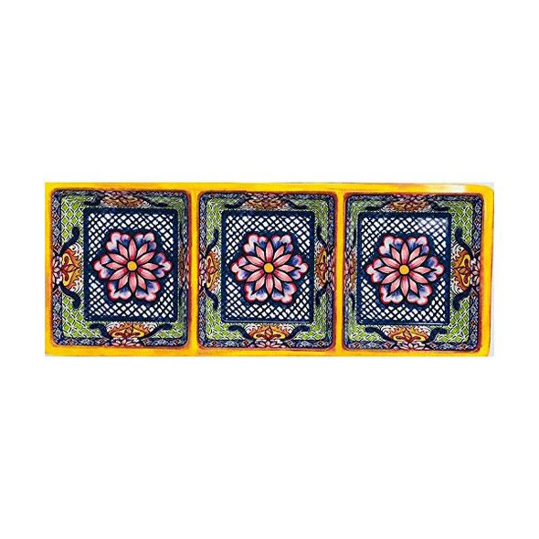 Prepara® 3-Section Tray in Yellow