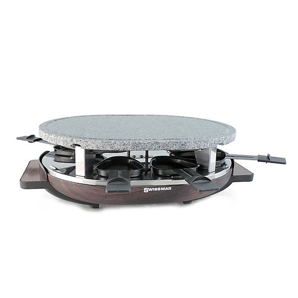 Swissmar Matterhorn 8-Person Raclette Party Grill with Granite Grill Top in Brown